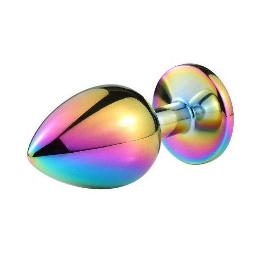 Plug Anal metal acier Arc-en-Ciel Bijou Multicolore