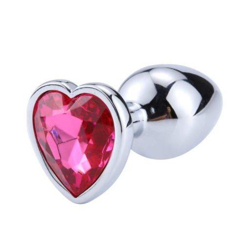 plug anal coeur rose fushia