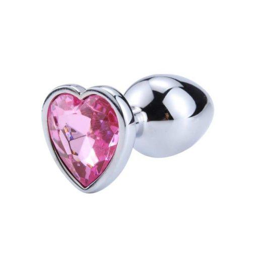 plug anal coeur rose