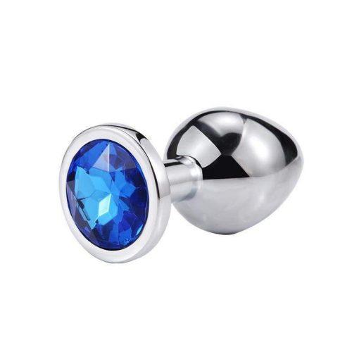 plug anal metal diamant bleu