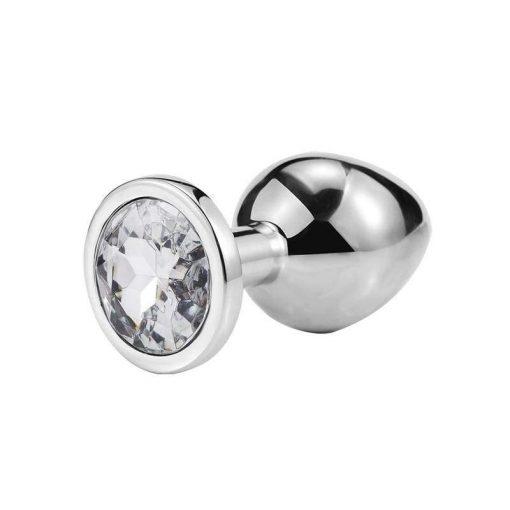 plug anal metal cristal diamant