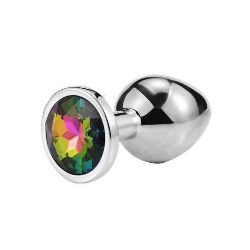 plug anal metal diamant multicolore