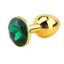 Plug Anal Métal Or Diamant Turquoise