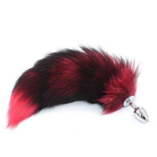 plug anal queue de chat rouge