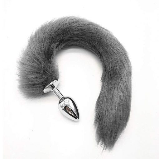 plug anal queue de renard gris