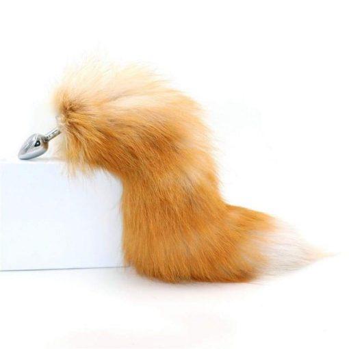 plug anal queue de renard roux