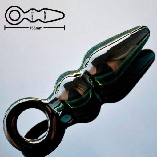 plug anal verre noir