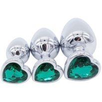 plug anal diamant émeraude