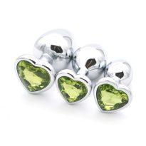 plug diamant cœur doux vert