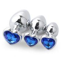 plug diamant cœur saphir